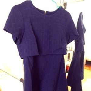 Topshop Textured Minidress with Side cutouts